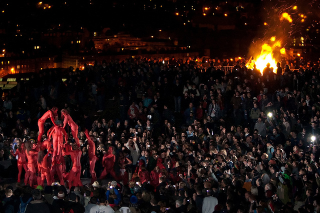 The Red pyramid at Beltane 2009 by Daniel Rannoch