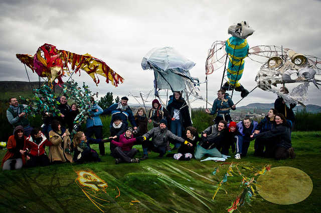 The Elementals at Beltane 2012 by Raini Scott