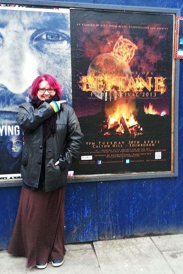Big Beltane Poster on Leith Walk