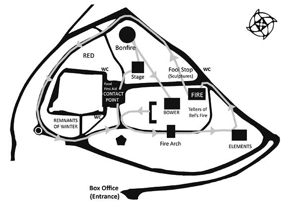 Beltane 2013 Map