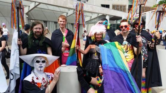 Torchbearers and Sisters of Perpetual Indulgence at Pride Scotia 2014