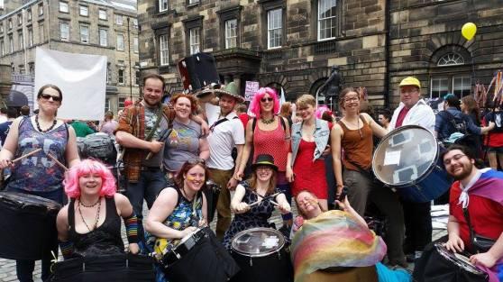 Processional Drummers at Pride Scotia 2014_10152228790745888_1333863351_n