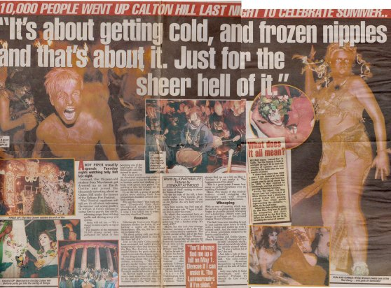 Edinburgh Evening News article about Beltane in 1996