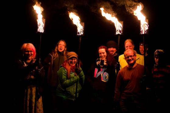 Torchbearers fire practice