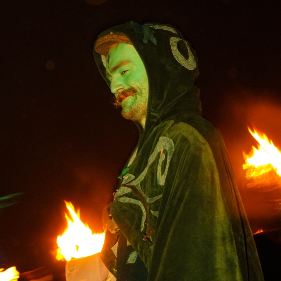 Green Man at Beltane 2014 by Felix Hartsuiker