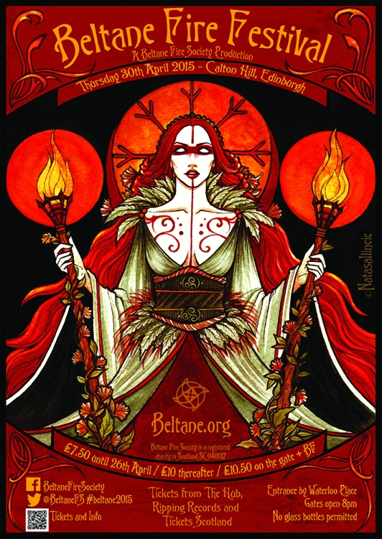 Beltane 2015 poster by Natasa Ilincic