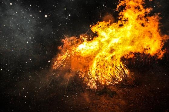 Beltane 2014 bonfire, photo by Felix Hartsuiker