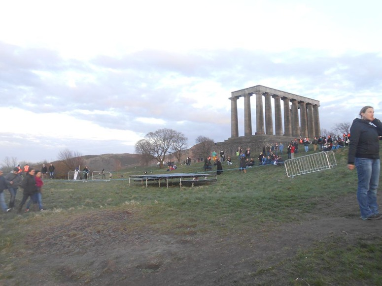 Brad's photo of Calton Hill before Beltane Fire Festival started