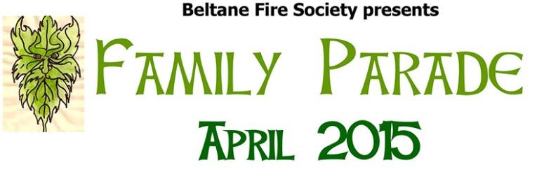 Beltane 2015 Family Parade banner
