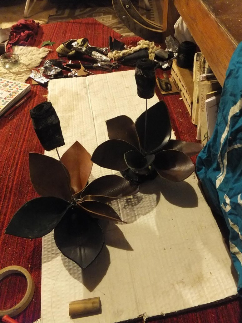 A photo of mysterious things No Point are making for Beltane 2015