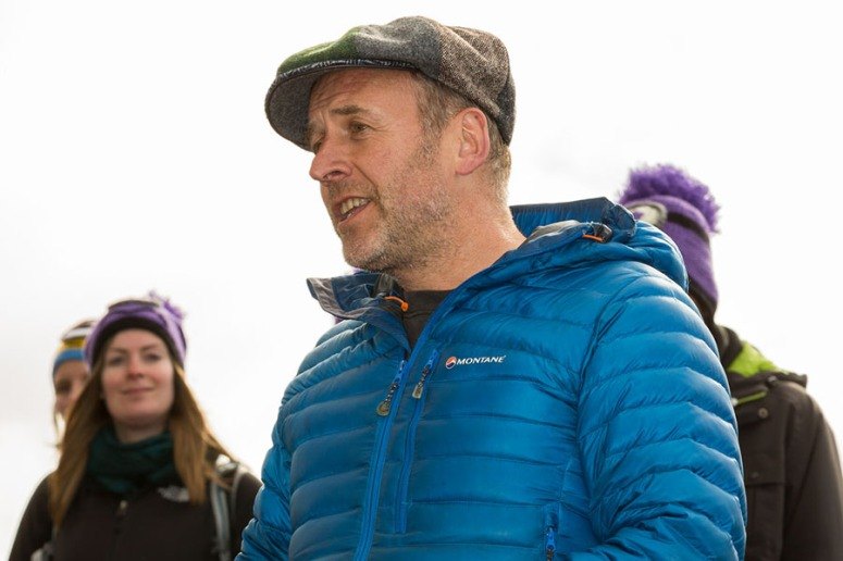 Photo of Angus Farquhar at a Beltane 2015 walkthrough by Neil Barton
