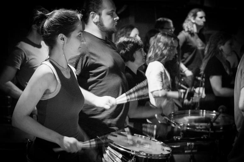 Winter Drummers rehearsal by Dan Mosley