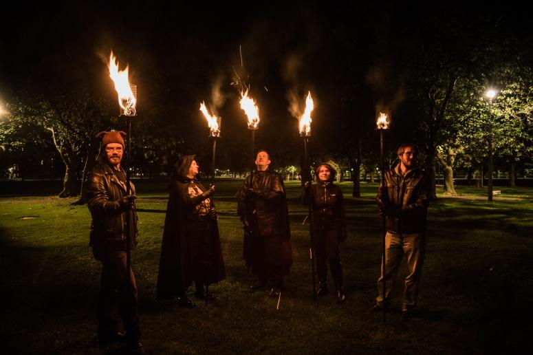Torchbearers rehearsal by Martin McCarthy