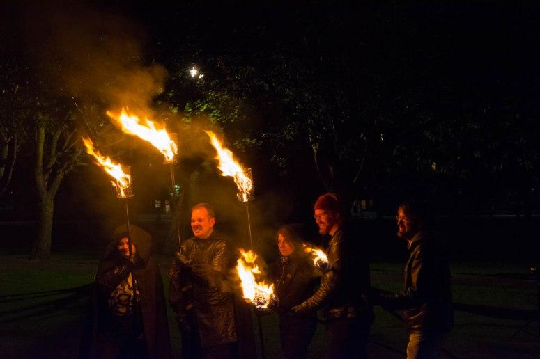 Torchbearers rehearsal by Pascal van der Meiden