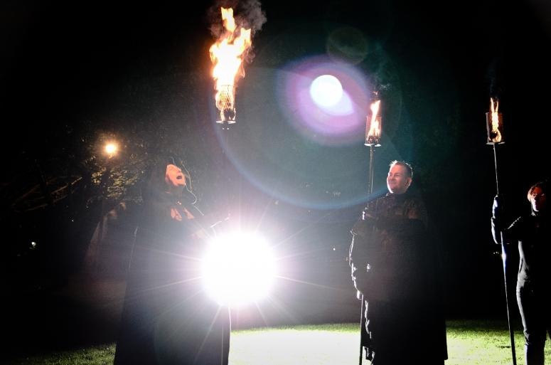 Torchbearers rehearsal by Richard Winpenny