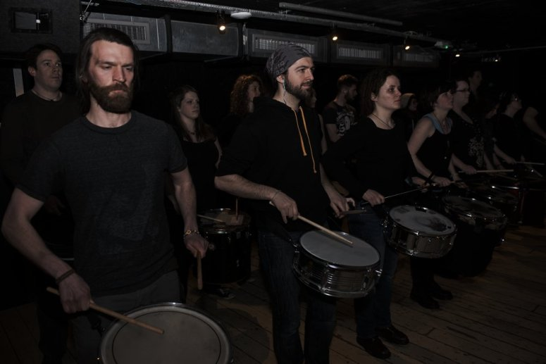 Beltane 2016 Processional Drummers by Asier Goikoetxea