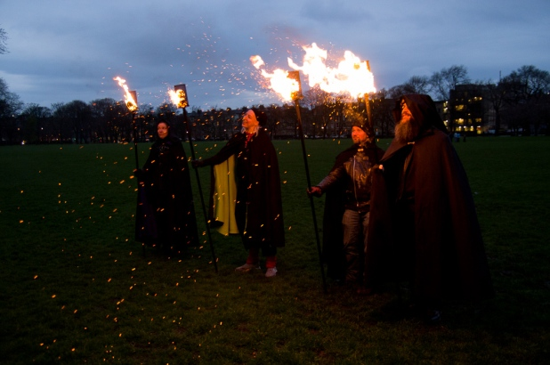 Torchbearers light up the Meadows by Laura Wallace
