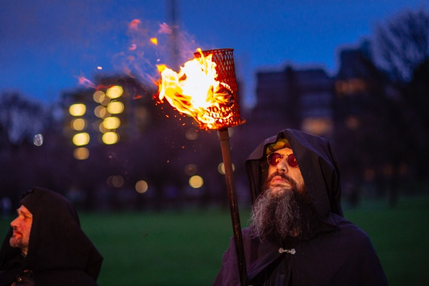 Torchbearers light up the Meadows by Martin McCarthy
