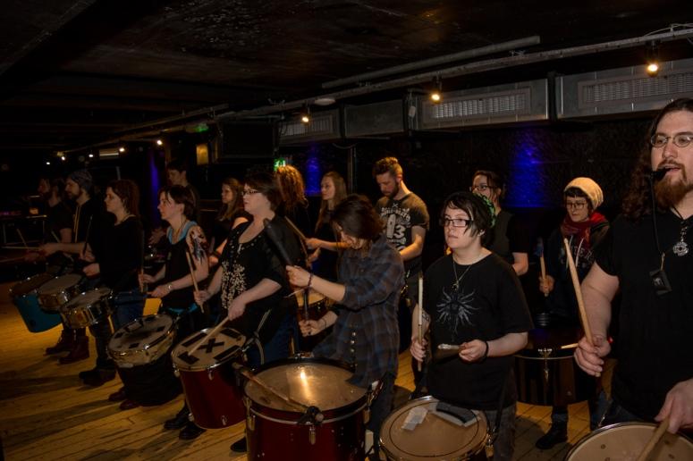 Beltane 2016 Processional Drummers by Pascal van der Meiden