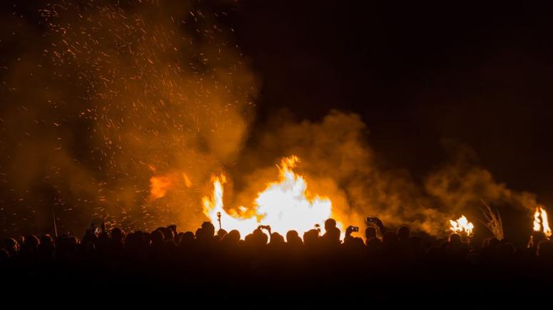 Beltane Bonfire by Neil Barton
