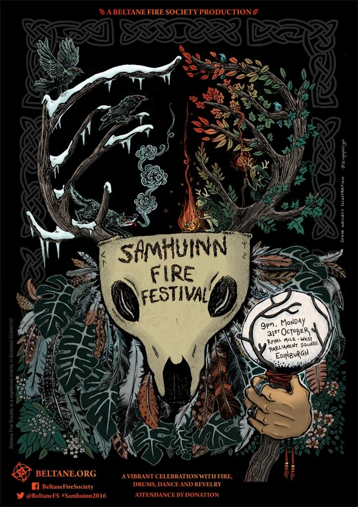 Samhuinn 2016 poster by Sonya Hallett