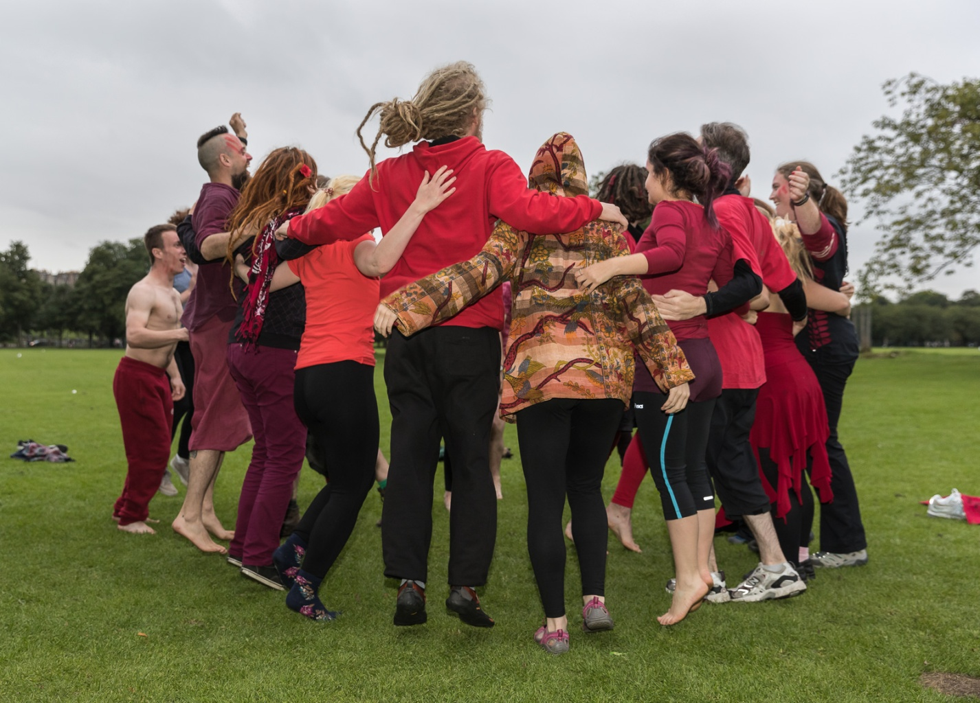 Reds rehearsing for Samhuinn 2016, by Neil Barton
