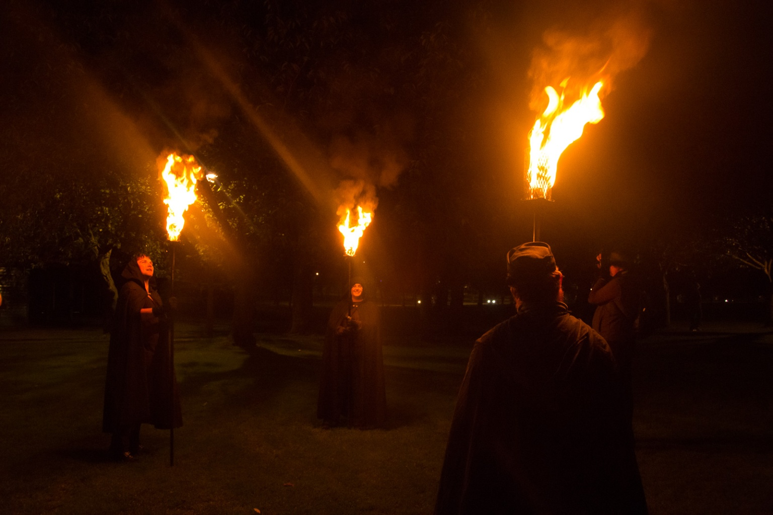 Samhuinn 2016 Torchbearers rehearsal by Alasdair Birchwood