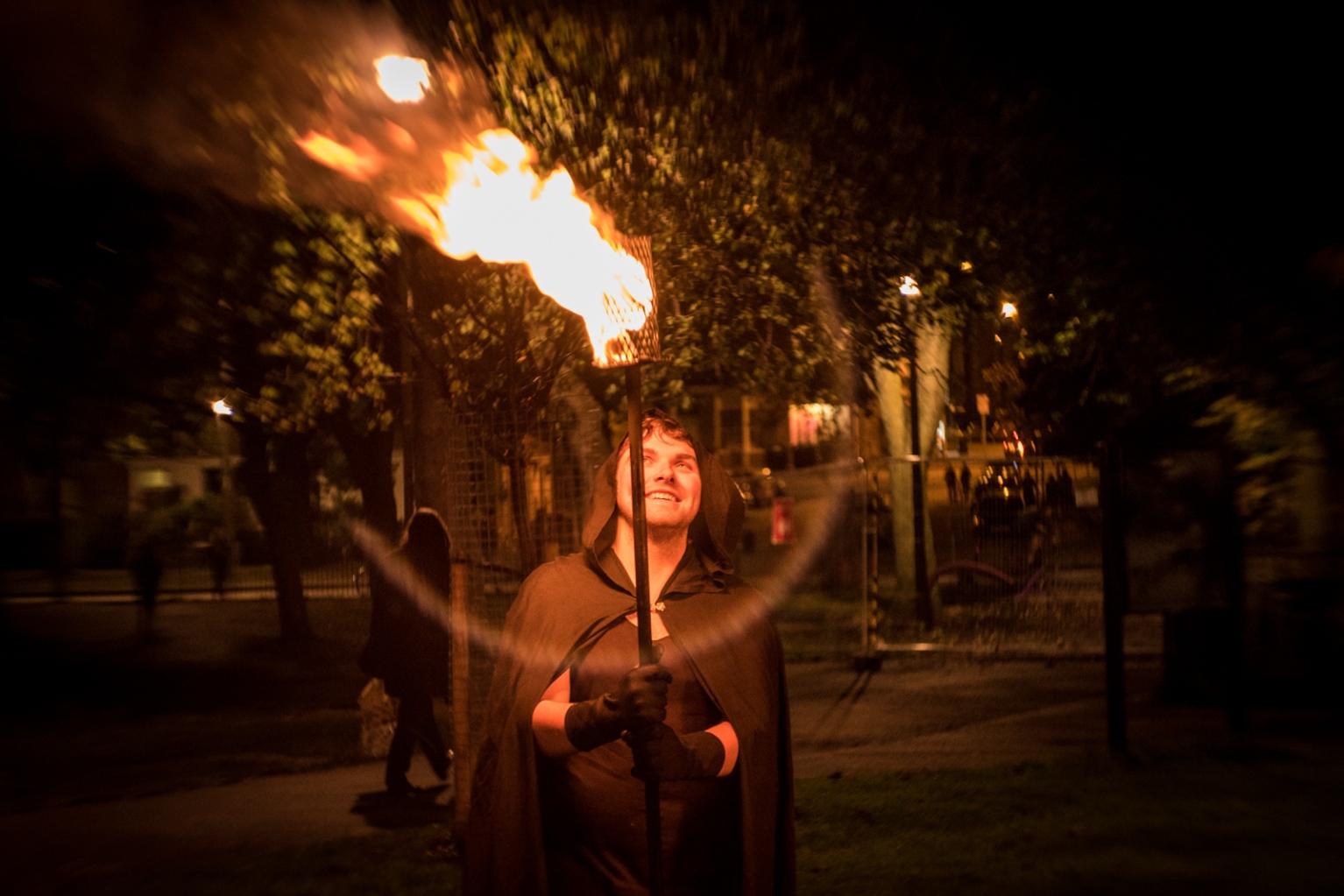 Samhuinn 2016 Torchbearers rehearsal by Dan Mosley