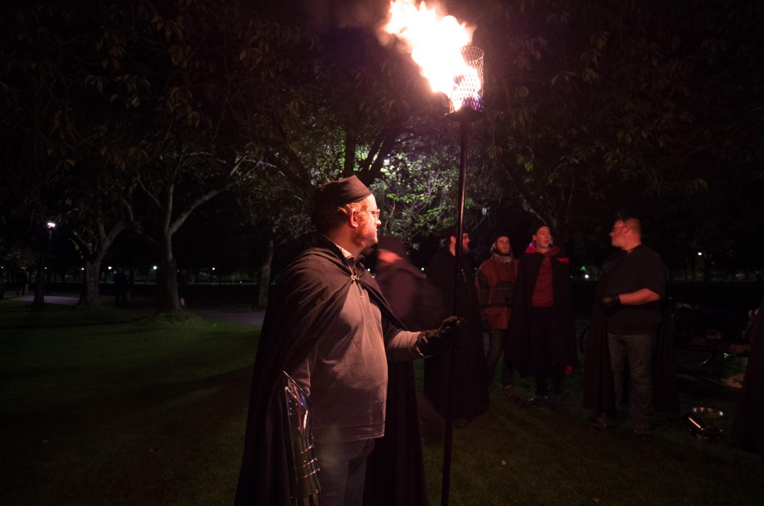 Samhuinn 2016 Torchbearers rehearsal by Maria Astefanoaei
