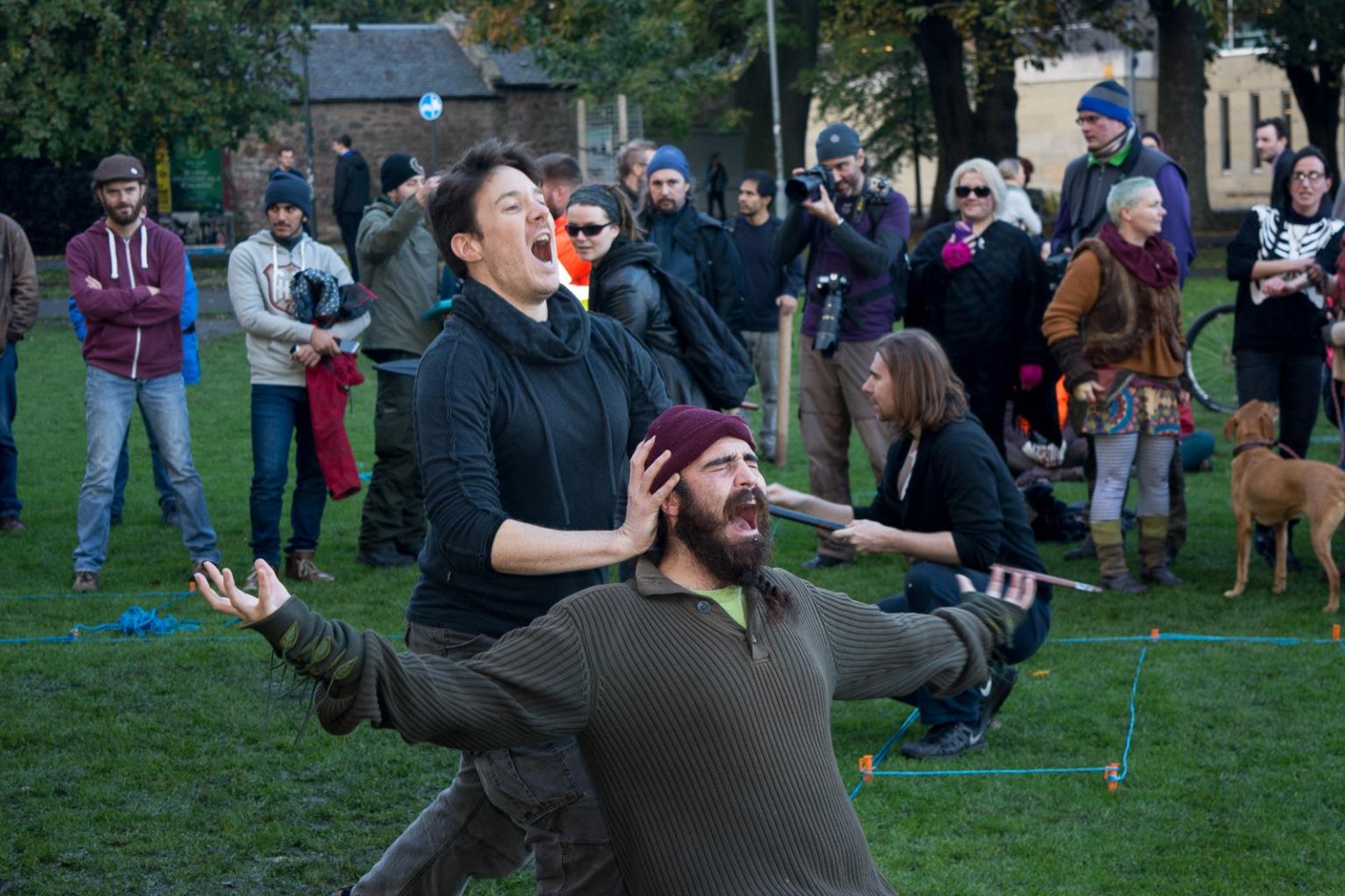First outdoor full-cast walkthrough by Pascal van der Meiden