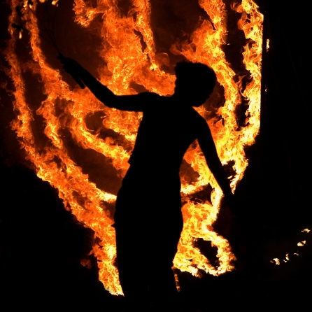 Beltane means 'bright fire', and that fire is the star of our festival. | Copyright Ove Hanson for BFS. All rights reserved.