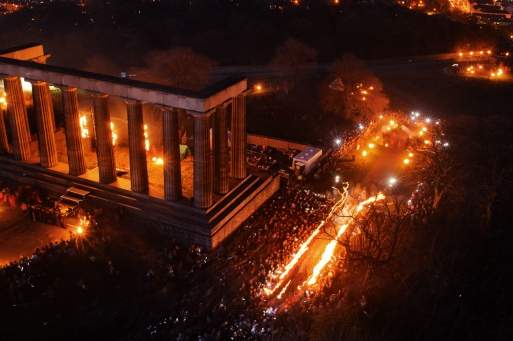 And the procession passes through a huge arch of fire... | Copyright Simon Crofts for BFS. All rights reserved.
