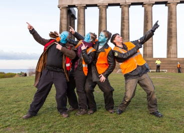 Stewards are the friendly human face of the Beltane Fire Festival. We work with the production crew, emergency services and the performance groups to make sure everyone has a safe and joyful Beltane. We are not a performing group but we will interact heavily with the audience, telling them about the significance of the celebrations and about some of the things they will see so that they can make the most of their experience. | Photo by Neil Barton for Beltane Fire Society.