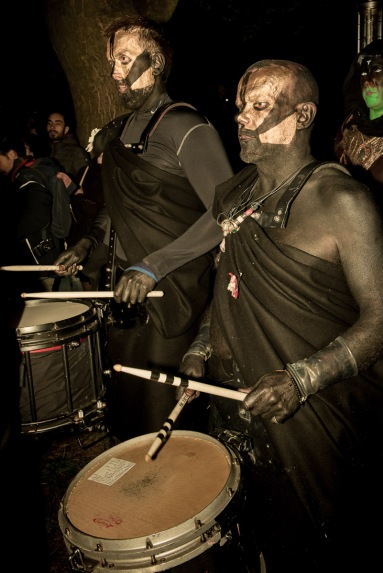 Processional Drummers at Beltane Fire Festival 2017 | Copyright Dan Mosley for Beltane Fire Society.