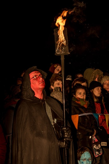 Torchbearers at Beltane Fire Festival 2017 | Copyright Dan Mosley for Beltane Fire Society.