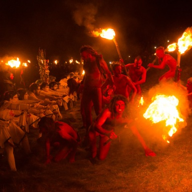 Reds and Whites at Beltane Fire Festival 2017 | Copyright Mark S I Taylor for Beltane Fire Society.