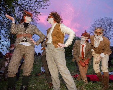 Foxes at Beltane Fire Festival 2017 | Copyright Martin McCarthy for Beltane Fire Society.