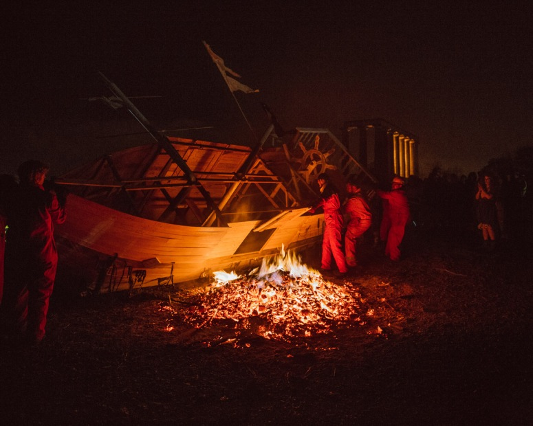 Tech at Beltane Fire Festival 2017 | Copyright Martin McCarthy for Beltane Fire Society.