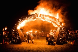 Fire Arch are the living embodiment of fire with explosive dance and tribal drumming beats. Copyright Dan Mosley for Beltane Fire Society. All Rights Reserved. www.beltane.org / facebook.com/beltanefiresociety