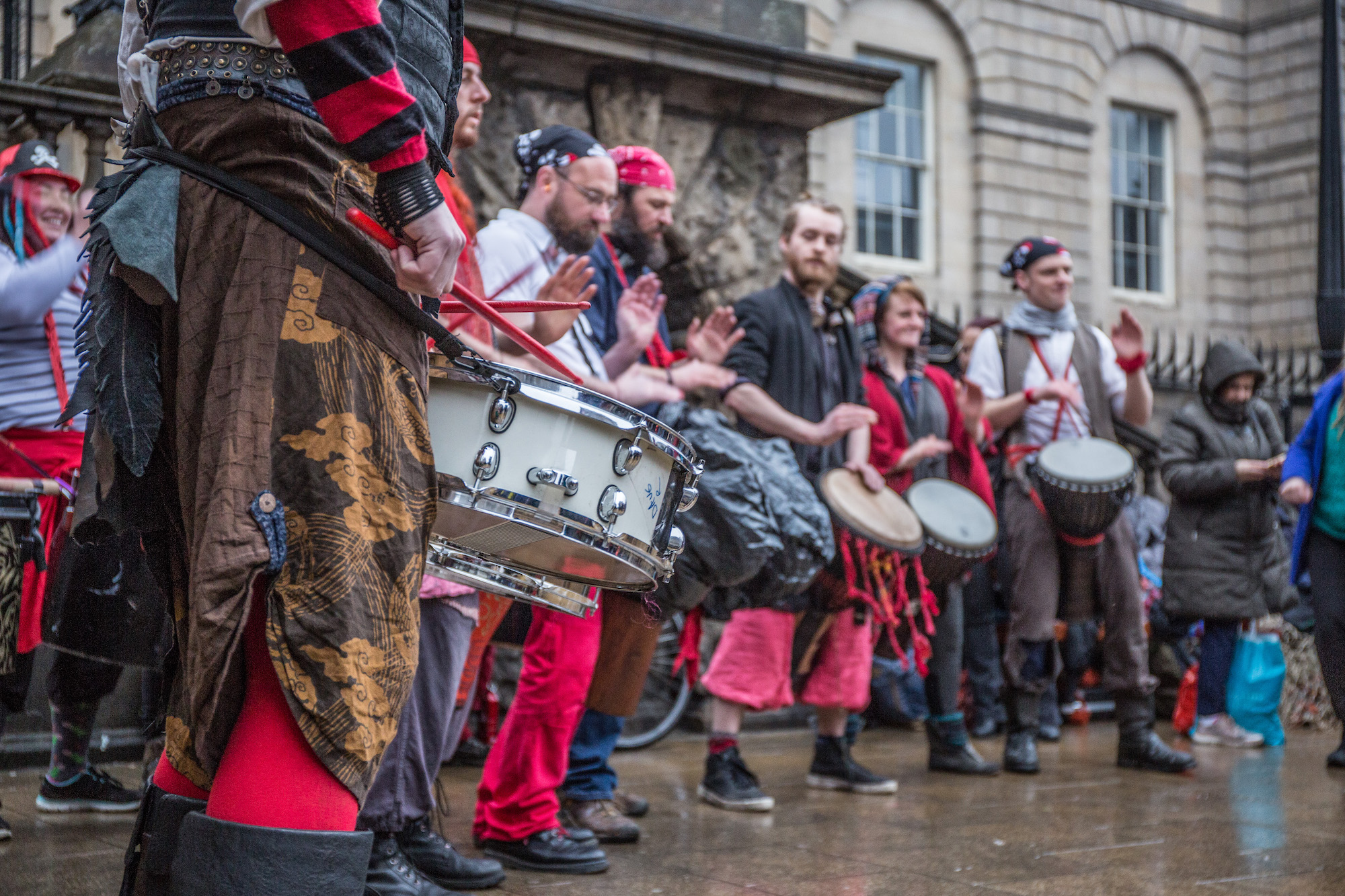Making mischief with the Beastie drummers