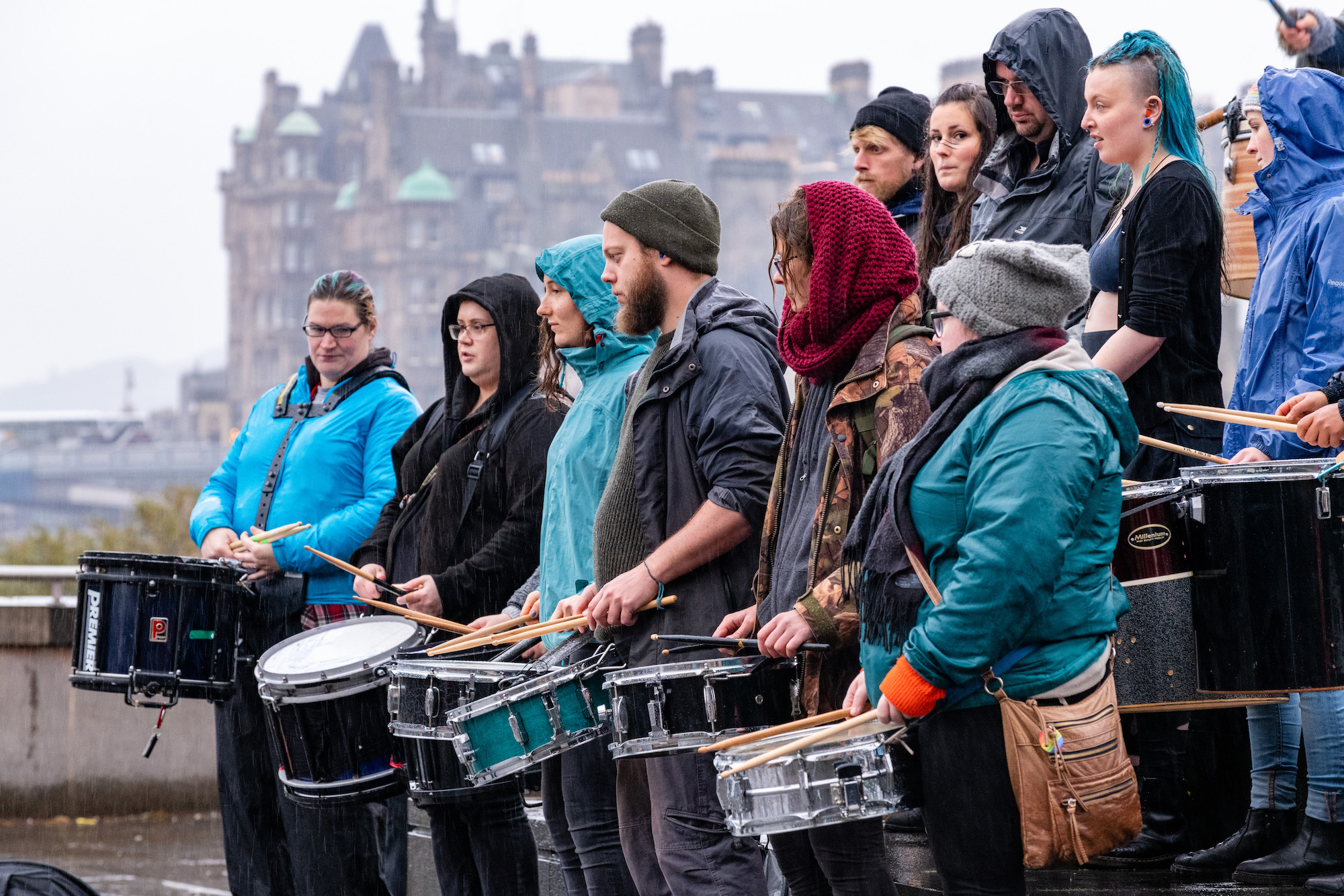 Drumming the community's heartbeat with The Winter drummers
